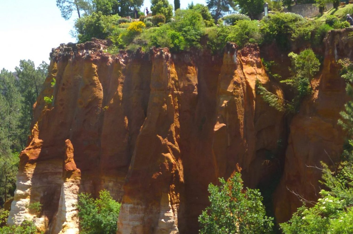 Ochre cliffs of Roussillon